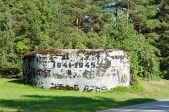 St Petersburg Rússia 31 07 2018 caixinhas de comprimidos durante a região de Leninegrado da segunda guerra mundial, Rússia da Máq imagens de stock royalty free