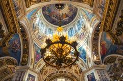 St Petersburg, Rússia, catedral do St Isaacs - interior da catedral Fotos de Stock Royalty Free