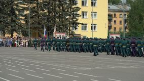 ST PETERSBURG, RÚSSIA - 20 DE JUNHO DE 2019: Soldados do exército do russo filme