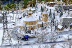 St Petersburg, Rússia - 13 de maio de 2017: Fragmento Maket grande grande Rússia Maket grande Rússia o modelo o maior do ` s do m Foto de Stock Royalty Free