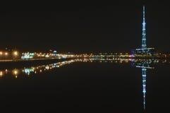 St Petersburg, Rússia, noite no rio Neva Foto de Stock