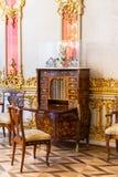 St Petersburg, R?SSIA - 30 DE ABRIL DE 2019: Interior dourado barroco dos rococ?s do pal?cio Tsarskoye Selo de Catherine, Pushkin foto de stock royalty free
