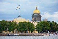 St Petersburg, remblai d'Amirauté Images libres de droits