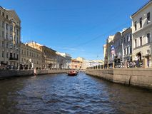 St Petersburg Remblai de la rivière de Moyka dans le St Petersbourg, Russie Image stock
