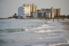 St Petersburg resorts and coast. The coastline of St Petersburg beach  showing the resorts and fun Stock Photos