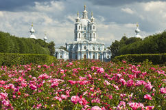 St. Petersburg, Resurrection cathedral of Smolniy monastery Royalty Free Stock Photography