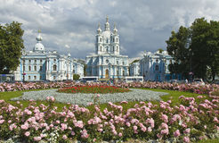 St. petersburg, Resurrection cathedral of Smolniy monastery Stock Photos