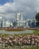 St. Petersburg, Resurrection cathedral of Smolniy monastery Stock Images