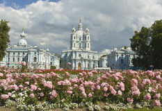 St. Petersburg, Resurrection cathedral of Smolniy monastery. Royalty Free Stock Photo