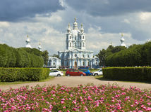 St. Petersburg, Resurrection Smolniy monastery Royalty Free Stock Photos