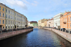 St. Petersburg,  river Mojka Royalty Free Stock Images