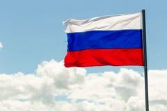 St Petersburg Rosja, Czerwiec, - 28, 2017: Flaga Rosja w wiatrze w St Petersburg Zdjęcie Royalty Free