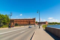 St Petersburg Rosja, Czerwiec, - 04 2017 Kronverkskaya bulwar i artylerii muzeum Fotografia Royalty Free