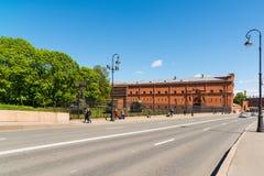 St Petersburg Rosja, Czerwiec, - 04 2017 Kronverkskaya bulwar i artylerii muzeum Zdjęcia Royalty Free