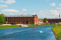St Petersburg Rosja, Czerwiec, - 04 2017 Kronverkskiy cieśnina i artylerii muzeum Obrazy Royalty Free