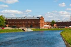 St Petersburg Rosja, Czerwiec, - 04 2017 Kronverkskiy cieśnina i artylerii muzeum Obraz Royalty Free