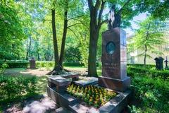 ST PETERSBURG ROSJA, CZERWIEC, -, 2015: LEBEDEV grób Zdjęcie Royalty Free