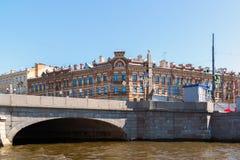 St Petersburg Rosja, Czerwiec, - 04 2017 Obukhov mosta i Maevsky mieszkania dom Fotografia Royalty Free