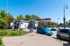 St Petersburg Rosja, Czerwiec, - 04 2017 stacja benzynowa Petersburg paliwa firma Obrazy Royalty Free