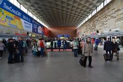 St Petersburg Rosja, Czerwiec, - 01 2017 Wnętrze Moskwa stacja kolejowa Obrazy Royalty Free