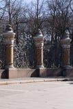 St Petersburg, Rosja, Kwiecień 2019 Czerep wspaniały ogrodzenie sławny kościół wybawiciel na Rozlewałam krwi fotografia stock