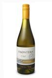 ST PETERSBURG ROSJA, Luty, - 09, 2016: Butelka Frontera Chardonnay, Vina Concha y Toro, S A Chile, 2014 Zdjęcie Royalty Free