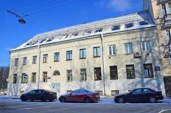 St Petersburg, Rosja, Luty, 27, 2018 Dom E A Alekseeva 1790-1799 rok budował na Gangutskaya ulicie w Skt Petersbur Zdjęcie Stock
