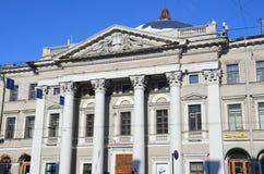 St Petersburg, Rosja, Luty, 27, 2018 Dom Holenderski kościół - holender reformował kościół przeciw niebieskiemu niebu, 1834-1937  Zdjęcie Royalty Free