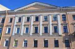 St Petersburg, Rosja, Luty, 27, 2018 Mieszkanie dom I e Starov, 1780-1789 rok budował w świętym Petersburg, chrzcielnica Fotografia Stock