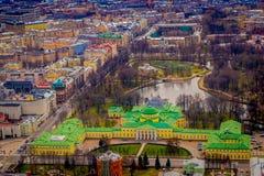 ST PETERSBURG, ROSJA, 01 2018 MAJ: Nad widok z lotu ptaka Tauride pałac Tauride pałac, Tavrichesky dvorets jest jeden Obraz Royalty Free