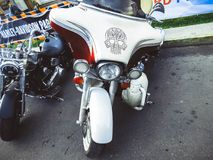 St Petersburg, Rosja, 06 08 2017: motocykl na ulicach St Petersburg Fotografia Stock