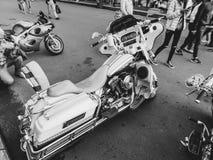 St Petersburg, Rosja, 06 08 2017: motocykl na ulicach St Petersburg Obraz Stock