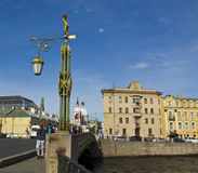 St. Petersburg, Rosja, piękna latarnia uliczna Obraz Stock