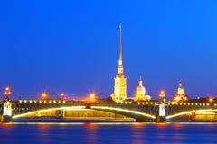 St Petersburg, Rosja, Troitsky most, Peter i Paul forteca, Zdjęcia Royalty Free