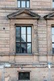 St Petersburg Rosja, Wrzesień, - 22, 2016: Kilka okno na fasadzie Derzhavin rezydenci ziemskiej muzealny frontowy widok z rzędu Fotografia Stock