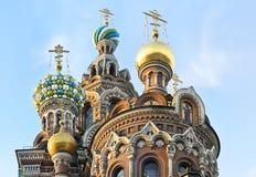 St. Petersburg, Rosja, zdroje przy krwią obrazy stock