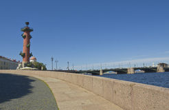 St. Petersburg, Rostral column Stock Image