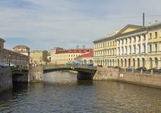 St Petersburg, pontes Imagem de Stock Royalty Free