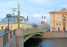 St Petersburg Rússia Ponte de Panteleymonovsky Foto de Stock Royalty Free