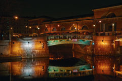 St Petersburg, Rússia, ponte obvodniy do kanal Imagens de Stock