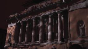 ST PETERSBURG, RUSIA - 29 DE ABRIL DE 2016: trazado 3D Teatro de Alexandrinsky La proyección de las formas geométricas y metrajes