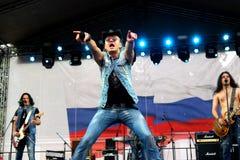 St Petersburg, Rusia - 11 de agosto de 2013: Concierto Imagen de archivo