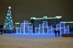 St Petersburg, Rusia - 2 de enero de 2017: Árbol de navidad y Imagen de archivo