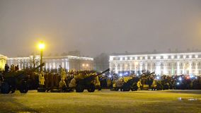 St Petersburg, Rusia - 27 de enero 2017: Día de gloria militar de Rusia - día de liberación completa de Leningrad de almacen de video