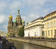 St Petersburg, catedral de la resurrección del Jesucristo (Savi Fotografía de archivo
