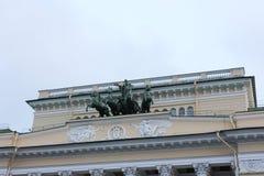 ST PETERSBURG, RUSIA - 14 de julio de 2014: noche Petersburgo en la puesta del sol Imágenes de archivo libres de regalías