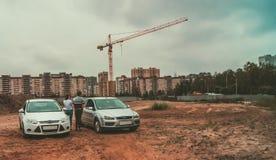 St Petersburg, Rusia - 21 de junio de 2018: Ford Focus 2, Ford Focus 3 Foto de archivo