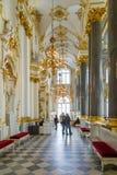 St Petersburg, Rusia - 12 de mayo de 2017: Interior de la ermita del estado en StPetersburg, Rusia La ermita del estado fue funda Foto de archivo libre de regalías