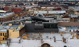 St Petersburg, Rusia - 11 de noviembre 2013 restaurante del tejado del ático Fotografía de archivo