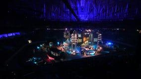 ST PETERSBURG, RUSIA - 28 DE OCTUBRE DE 2017: Huelga del contador del EPICENTRO: Acontecimiento deportivo cibernético ofensivo gl almacen de metraje de vídeo
